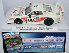 FLY 99094 LANCIA BETA MONTECARLO CTO.NACIONAL RALLYSLOT 2007 OFF.DRIVERS LTED.ED