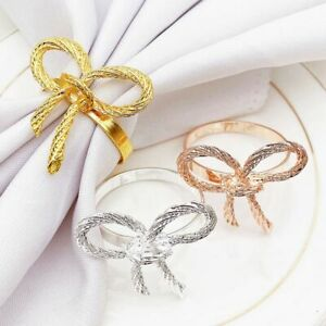 Butterfly Napkins Rings Gold Napkin Rings Holder for Wedding Party Table Decors