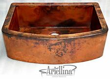 "36"" Ariellina Farmhouse 14 Gauge Copper Kitchen Sink Life Warranty New AC1916 NF"
