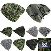 Plain Beanie Camouflage Hat Cap Winter Ski Hunting tactical Military Camo Visor