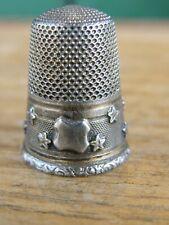 Dé à coudre en Argent Massif Silver Silber décor d'étoiles Thimble