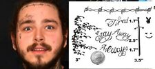SHIP FROM NY - temporary tattoo - Post Malone Face Tattoos / Rapper Tattoos