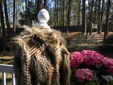 Canteen Girls Boho Chic  Faux Fur Vest Sleeveless Layering Jacket