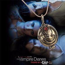 Halskette Anhänger Hexe Elena`s Eisenkraut VAMPIRE DIARIES Antik Gold