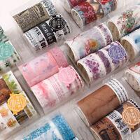 7X Floral Washi Tape DIY Scrapbooking Planner Label Adhesive Sticker Craft Decor