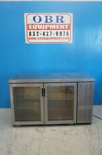 "PERLICK 60"" 2 SECTION SELF CONTAINED BACK BAR COOLER WITH GLASS DOORS MODEL BS60"