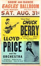 Music Poster Reprint Chuck Berry and Lloyd Price