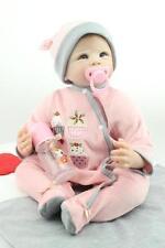 22'' Lifelike Reborn Baby Girl Doll Silicone Vinyl Newborn Dolls + Clothes Gifts