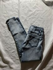 "Puzzle Size 0 High Waist Skinny Jeans Inseam 30"" Cotton Blend"