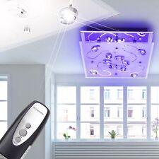 LUXE LED Lampe de Plafond Télécommande Changeur de couleur chrome cristaux K5