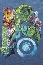 NWT Avengers Marvel Age of Ultron Graphic Tee Tshirt men's size Medium Blue Hulk