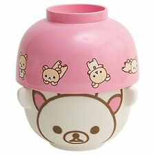 NEW Rice & Soup Bowl Set C San-X Rilakkuma Relax Bear Tableware Kitchen Gift