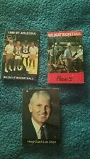 3 SCHEDULE ARIZONA WILDCATS BUD LIGHT BEER BASKETBALL POCKET SCHEDULE EARLY 80s