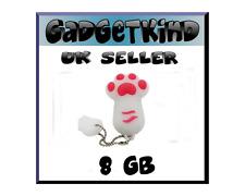 Dog / Cat Paw cute novelty 8GB  USB Pen Drive flash memory stick Gift UK white
