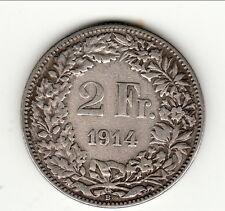 2 FRANCS SUISSE 1914  bel état type