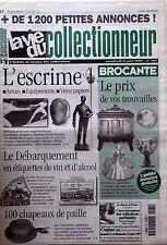 La Vie du Collectionneur n°181-  L'escrime Débarquement en étiquettes de vin