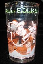 1974 Warner Bros. Promo Juice Glass Tumbler Porky Pig Bugs Looney Tunes Cartoon