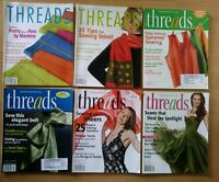 Taunton's Threads Magazine Back Issues 2004 - 2010 Sewing Machine Sew Lot of 6