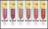 NEW DELIA Liquid Matt Lipstick METALLIC Finish Long Lasting 6 Shades