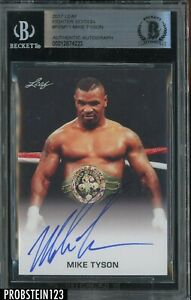 Mike Tyson Signed 2017 Leaf Boxing Fighter Edition AUTO BGS BAS Authentic