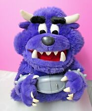 Don't Free Freddy Purple Monster Talking Plush Spin Master 2001 WORKS TESTED