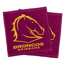 NRL - Brisbane Broncos - Face Hand Towel Washer Set Of Two