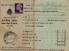 LUOGOTENENZA - AMMINISTR. DELL'AFRICA ITALIANA - RARA CARTOLINA DA PRESICCE 1945