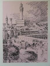 Louis FABIEN - Palazzo Vecchio  - gravure signée #322ex + justificatif