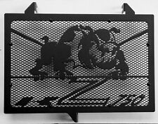 cache grille radiateur Kawasaki Z750 07>12 Bulldog noir mat + grill noir