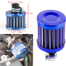1PCS 12mm MINI Oil Air Intake Crankcase Vent Valve Cover Breather Filter Blue