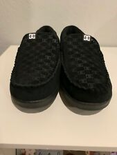 DC Mens Black Villain 301361 Slip On Shoes Size 9.5 Skate Loafers