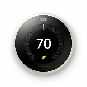 Google Nest Learning Thermostat Smart (3rd Generation, White) - T3017US