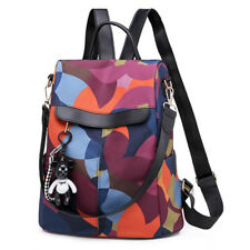 Women's Multicolor Backpack Bear Pendant Cute Girls Pack Oxford Cloth Fashion