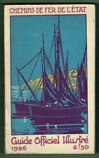 Guide officiel illustré Chemins de Fer l'Etat 1926, Ouest, Trains Horaires Plans