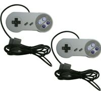 2x 6FT Controller Gamepad for Super Nintendo SNES System Console SNS-005
