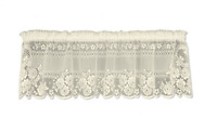 "Heritage Lace ECRU VICTORIAN ROSE Window Valance - 60""W x 16""L Made in USA!"