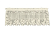 "Heritage Lace ECRU VICTORIAN ROSE Window Valance  - 60"" Wide x 16"" Long"