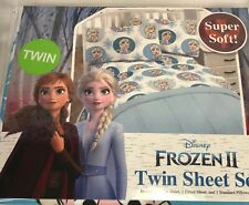 Disney Frozen II 2 Twin Sheet Set New Jay Franco & Sons Elsa
