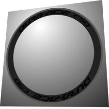 DURA ACE C50 GLOSSY OR MATTE BLACK  REPLACEMENT RIM DECAL SET FOR 2 RIMS