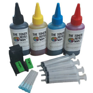 Ink Cartridge Refill Kit And Tool For Use In HP 301,HP301 XL 4 X 100ml ink