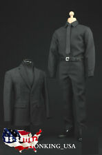1/6 Men Suit Shoes Full Set For Hot Toys S.H.I.E.L.D. Agent Phicen Male Figure
