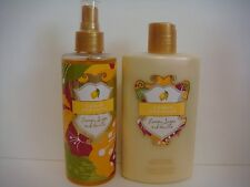 X 2 VICTORIA'S SECRET LEMON PARADISE LEMON SUGAR AND VANILLA MIST & BODY LOTION