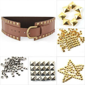 100Pcs Metal pyramid Studs Stud Rivet Punk Spike Spots Craft DIY Punk Style