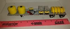 1/64 ERTL farm toy custom sprayer chemical y water trailer loaded on dcp flatbed
