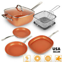 Healthy Non Stick Copper Induction Bottom Frying Pan Kitchen Cookware