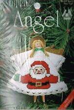Clothespin Angel Ornament with Santa on Dress Counted Cross Stitch Kit - NEW