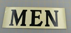 MEN Decal Sticker Sign Bathroom Scotchlite Reflective Sheeting Minnesota Mining