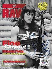 Chyna Signed WWE WWF October 1998 RAW Magazine PSA/DNA COA DX Photo Autograph 98