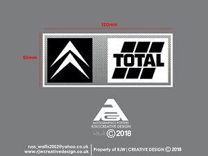 Citroen Total Rear Windscreen Sticker in Black and White