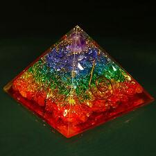 Pierre gemme mixte pyramide Orgone énergie générateur spirituel Chakra